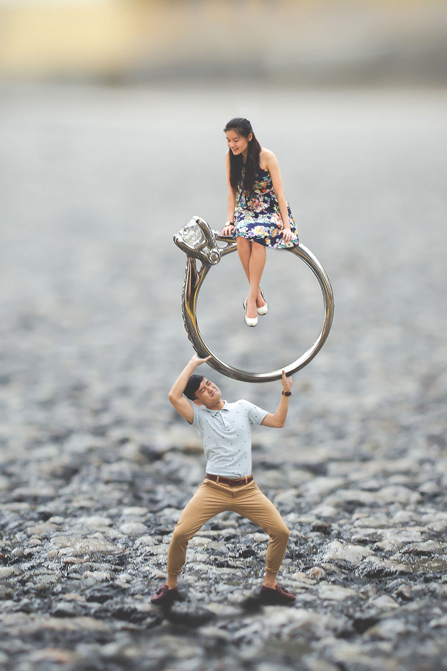 I Turned This Couple's Pre Wedding Photo Shoot Into A