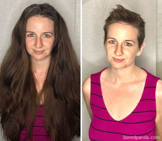 A Beautiful Change For A Beautiful Cause. Heather Donated Her Hair And Got A Great Pixie Cut For The Summer