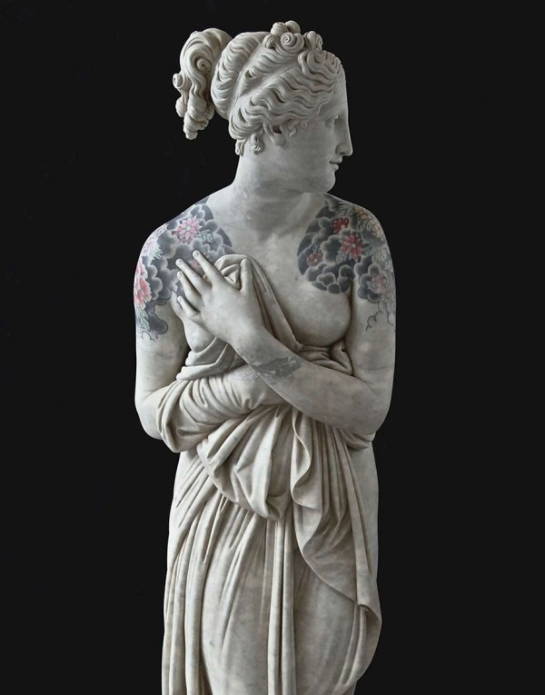 Italian Artist Classical Sculptures Criminal Tattoos