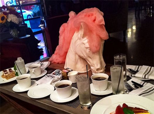 More That Moment When Everyone Else Gets Plates And Your Dessert Arrives On A Porcelain Horse Head