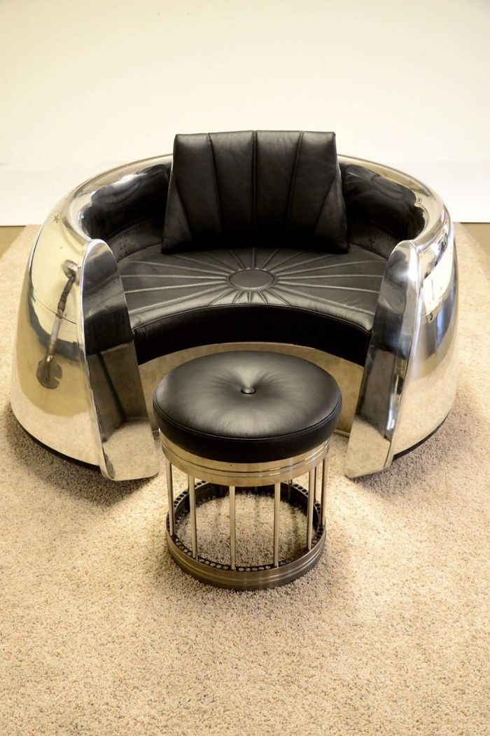 desk chair made high chairs for sale 10+ badass furniture pieces from old airplane parts | bored panda