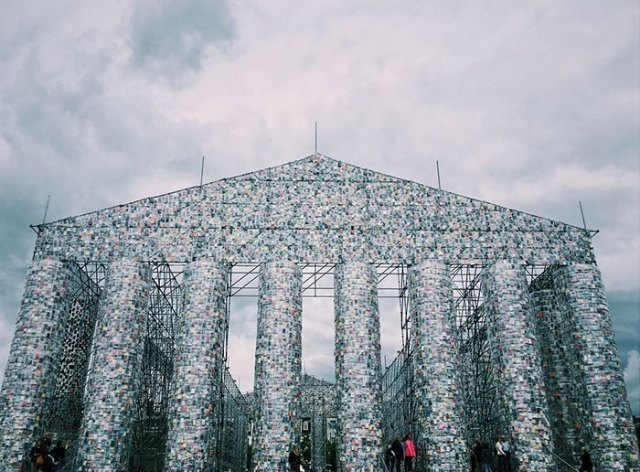 Artist Creates a Full-Size Parthenon Out of 100,000 Banned Books at Historic Nazi Book Burning Site   wisdompills.com