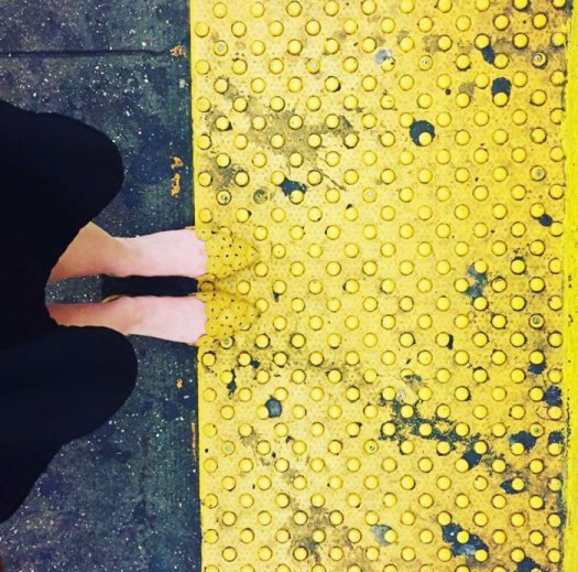 The Way These Shoes Match The Subway Platform