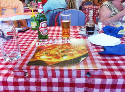 The Pizza Box Matches The Tablecloth