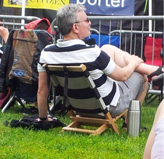 This Guy's Shirt And Lawn Chair Match