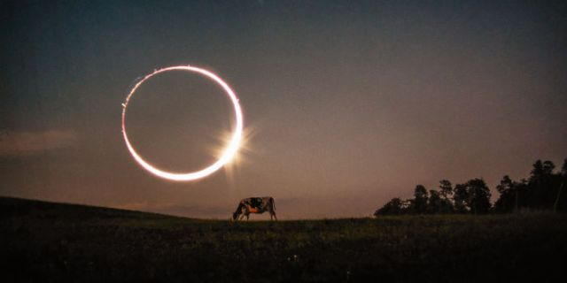 The Day Of The Eclipse. Double Exposure Pic