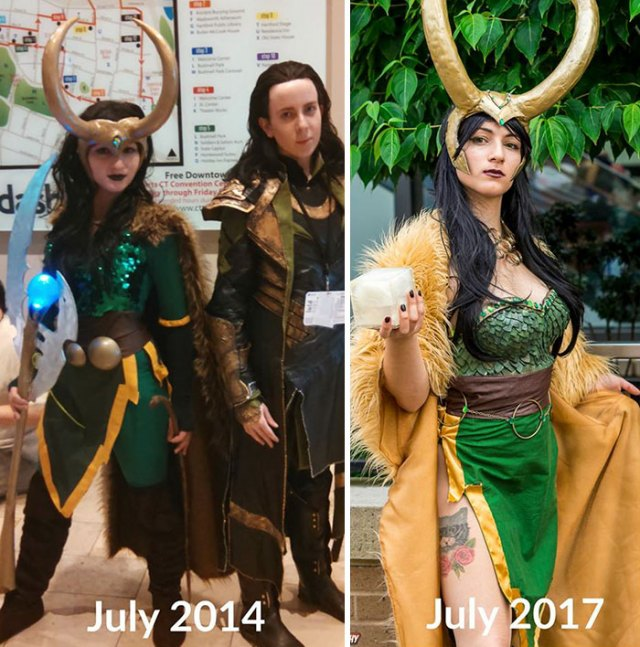 10+ Cosplay Artists Reveal How They Improved Over The Years, And You Can Clearly See The Difference