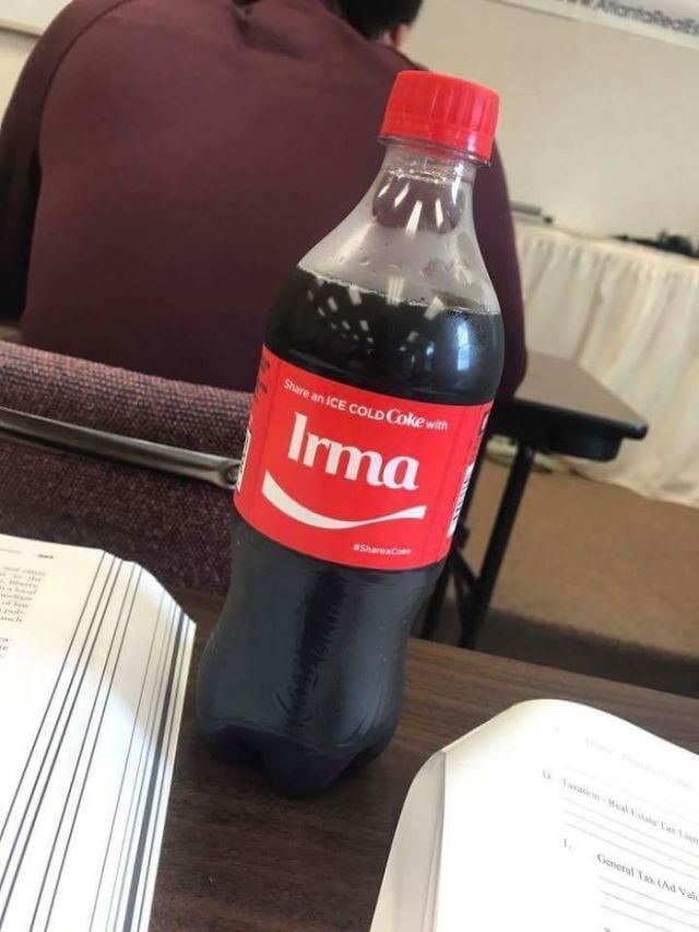 My Coke Bottle That I Got Out Of The Vending Machine Had The Name