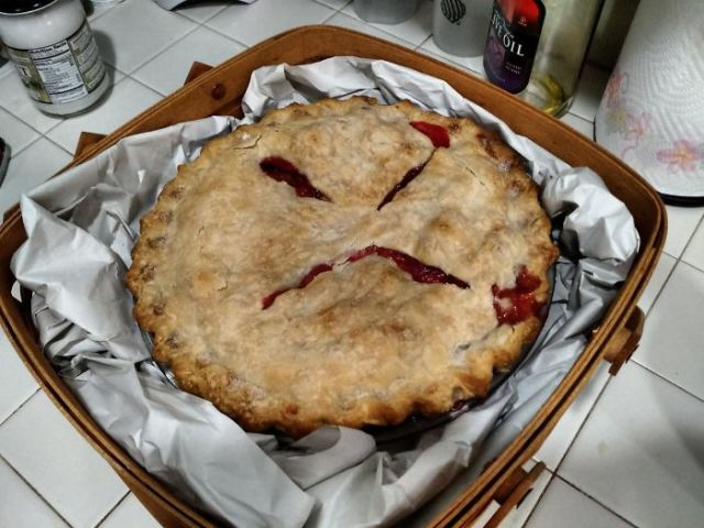 Future Mother-In-Law Brought A Pie To Our Barbeque. Think She's Trying To Tell Us Something?