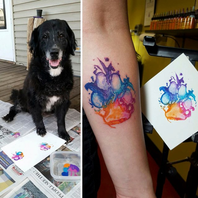Dog Paw Prints Make The Most Pawesome Tattoos Ever, And Here's The Proof (10+ Pics)