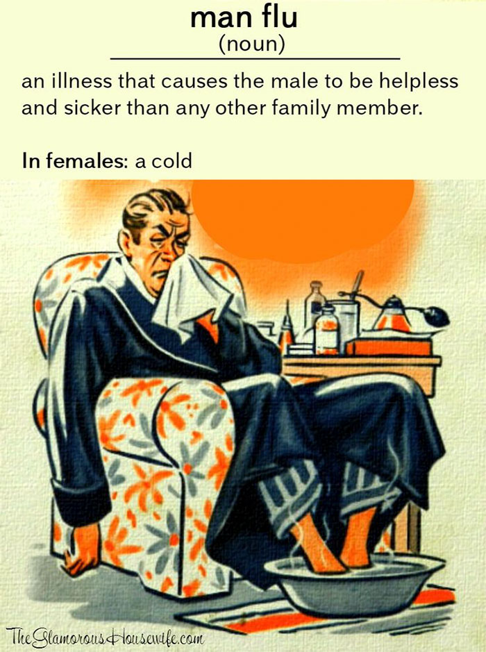 Man Cold Meme : Hilarious, Posts, About, Husbands, Catch, Think, They're, Dying, Bored, Panda