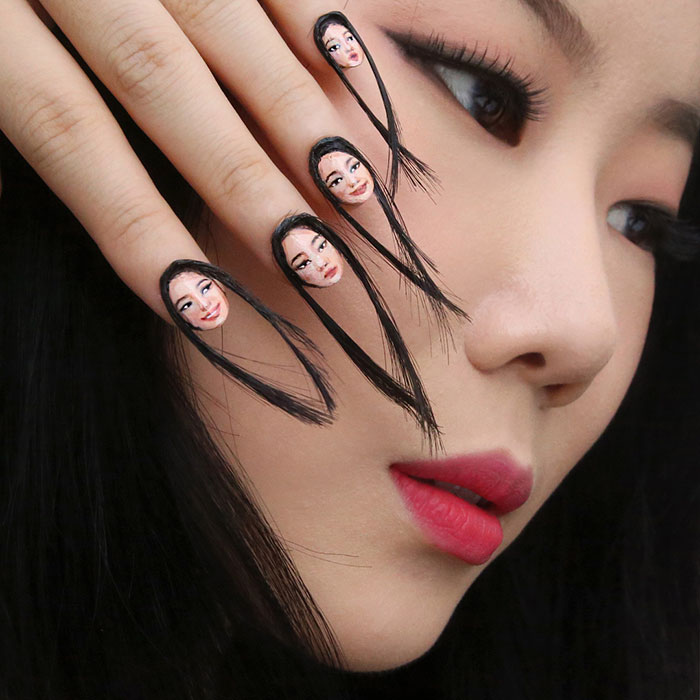 Hair Selfie Nails Art Tiny Faces Designdain 2