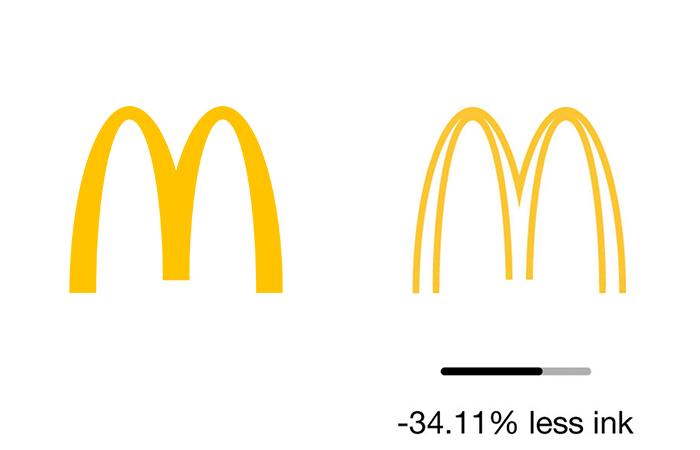"""less ink ecobranding logo design 2 59bf73c816c7d  700 - Logos mais suaves estão na """"moda"""""""