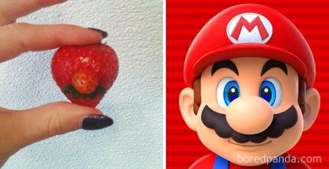 Fresa que se semeja a Mario