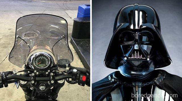 El ánima de Darth Vader vive en mi parabrisas