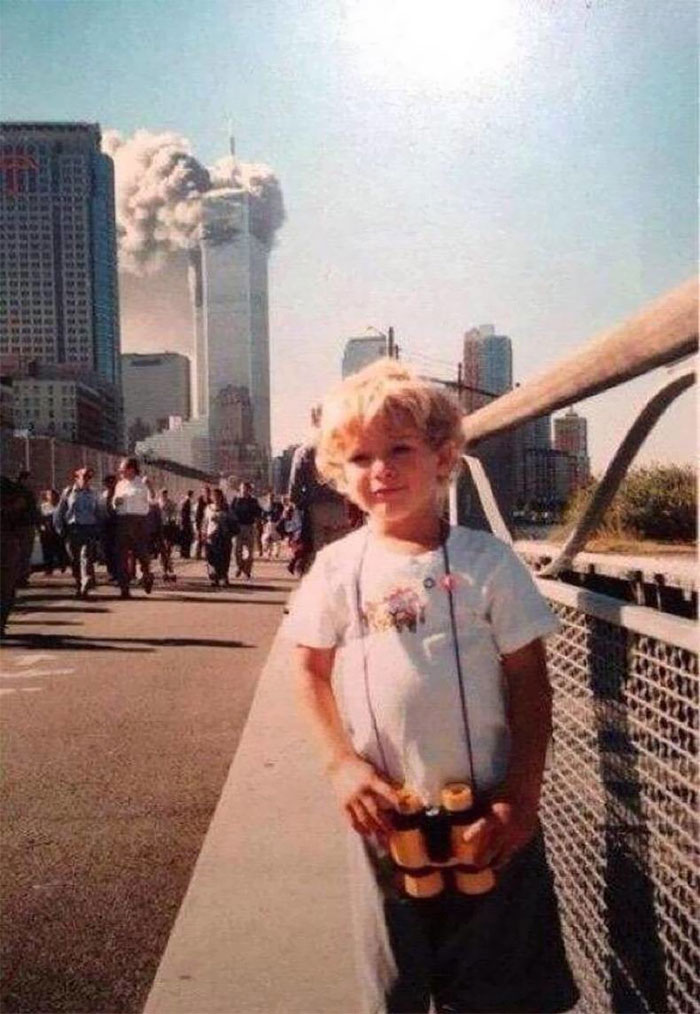 I Was 4 Years Old And The Picture Was Taken Along The Westside Highway That Morning On 9/11