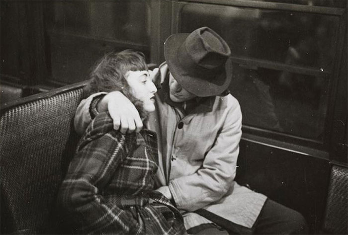 Couple In A Subway Car, 1940s