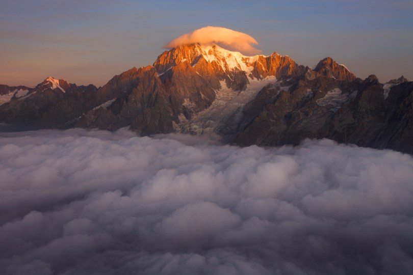 Mont Blanc Com o chapéu