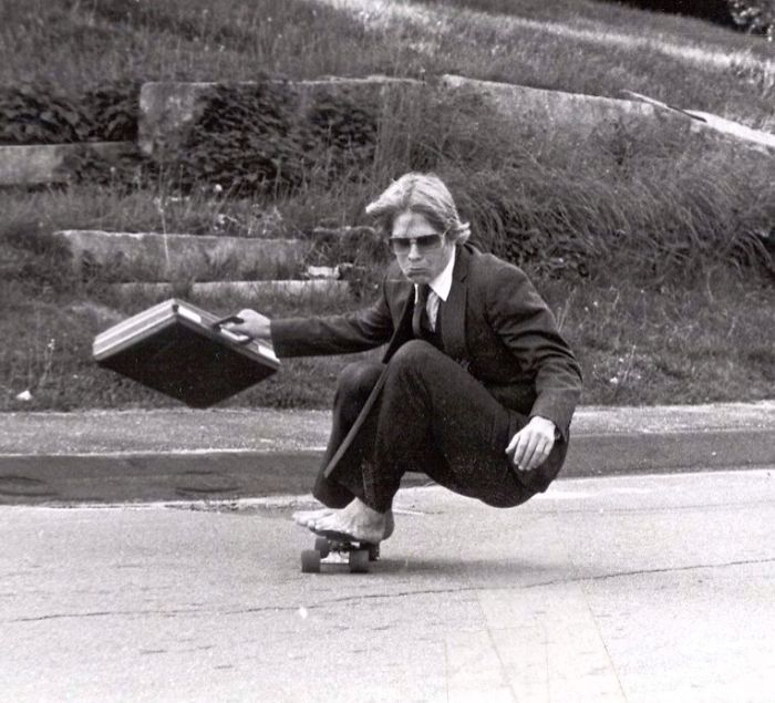 My Dad Skateboarding At Hyde School 1982. I Think He Was Cooler Than Me