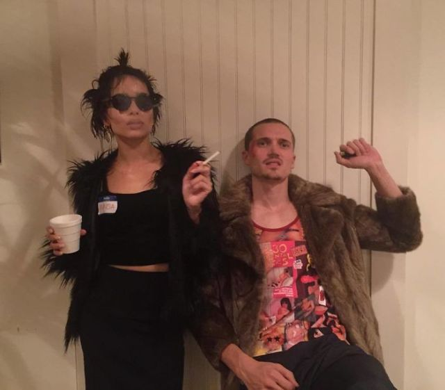 Zoe Kravtiz And Her Boyfriend As Marla And Tyler From Fight Club