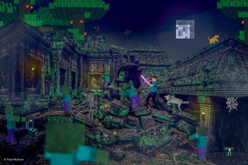 Yesie McEwan 85 59d91ad9bee7d  880 - Pai cria Minecraft Photo Series com os filhos