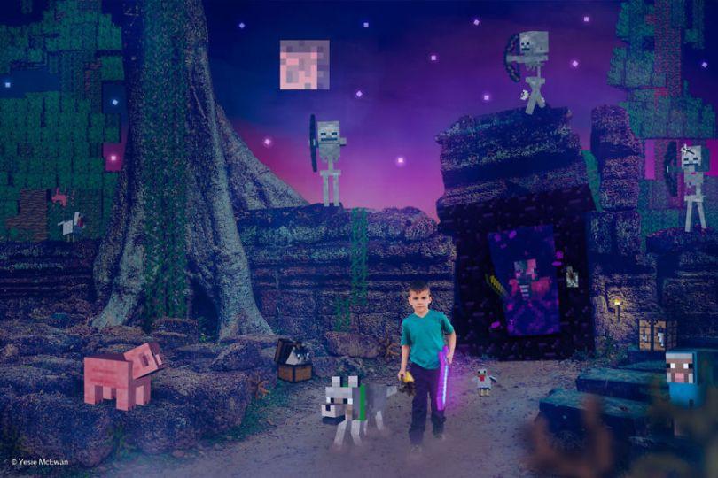 Yesie McEwan 87 59d91ae25cf92  880 - Pai cria Minecraft Photo Series com os filhos