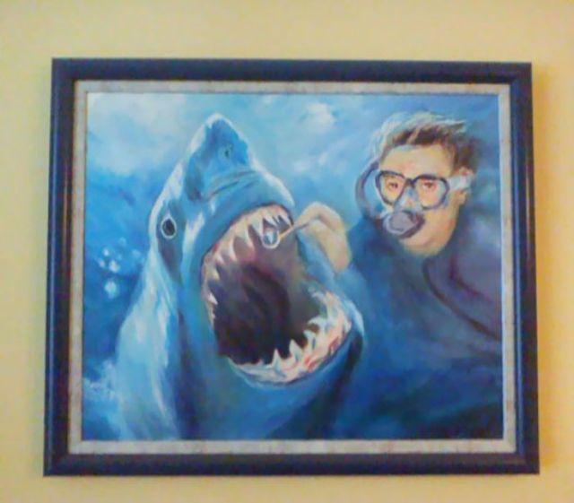 Cuadro en la sala de aguarda del dentista