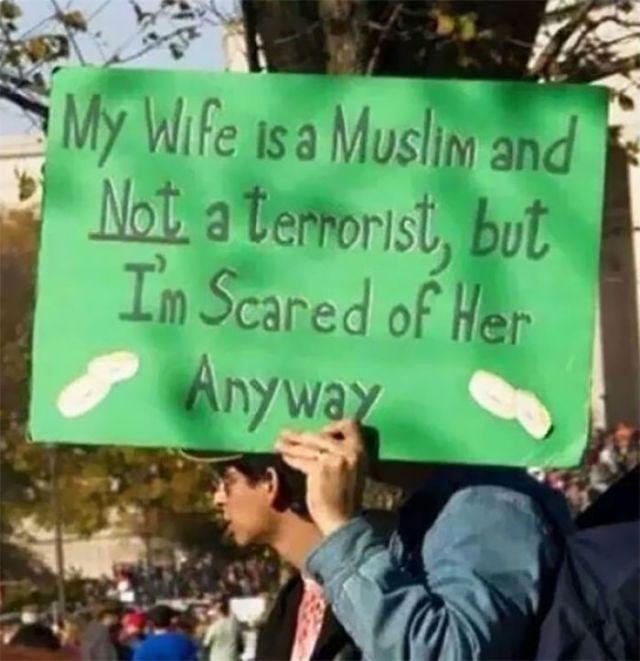 Mi esposa es musulmana y no es terrorista, mas de todas formas, me otorga miedo