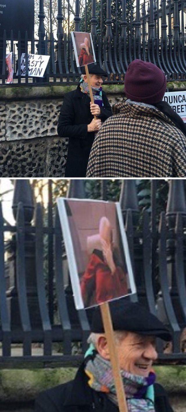 El cartel de Ian McKellen