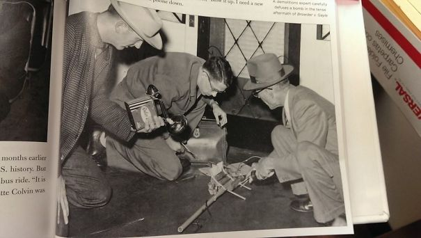 My Grandfather Defusing A Bomb On Martin Luther King's Porch. He Was Buried Three Years Ago On MLK Day