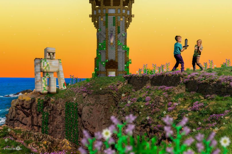 Yesie McEwan 123 5a00a630f2b57  880 - Pai cria Minecraft Photo Series com os filhos