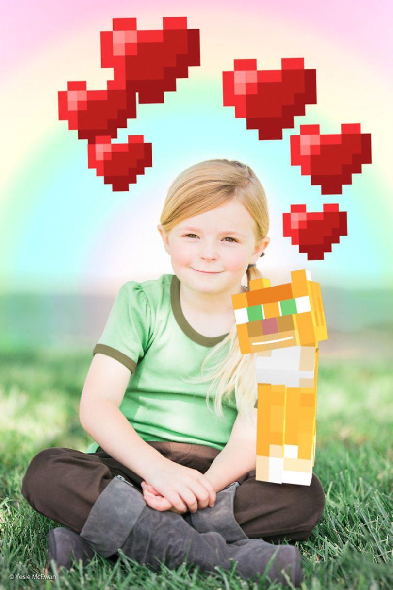 Yesie McEwan 125 5a00a5f35a9ff  880 - Pai cria Minecraft Photo Series com os filhos
