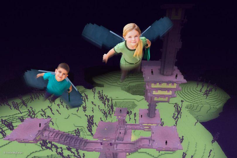 Yesie McEwan 126 5a00a605a7758  880 - Pai cria Minecraft Photo Series com os filhos