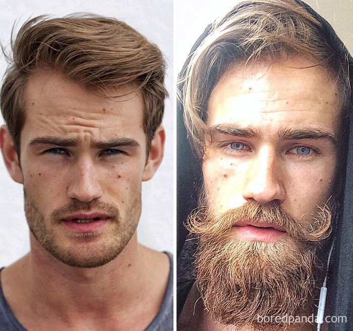 17 Hot Celebrities With Beards Best Before And After Celebrity Hair Looks