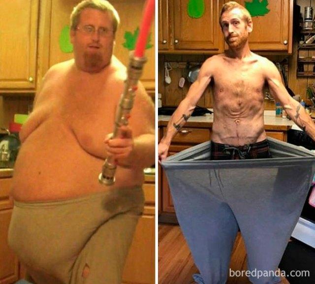 Me alegro de que mi cuerpo haya aguantado mi peso, el agobio y entonces el perder kilogramos y kilogramos de grasa