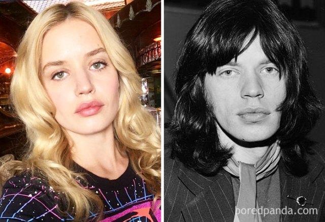 Georgia May Jagger y Mick Jagger a los 25