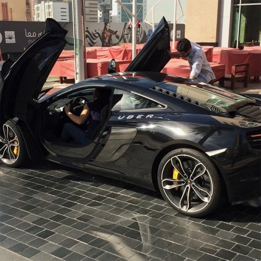 A Friend Sent Me This From His Trip To Dubai, An Uber Mclaren Picking Up Someone From His Hotel