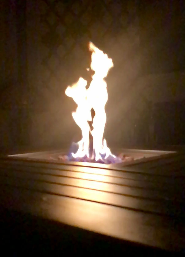 Took A Picture Of My Fire Pit Last Night And Caught Peter Pan And Tinkerbell