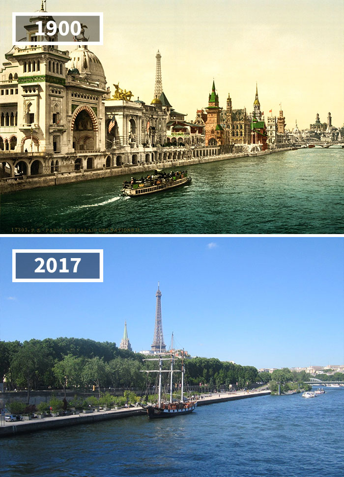 Quai Des Nations, Paris, France, 1900 - 2017