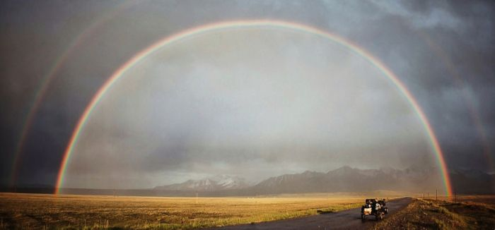 The Most Beautiful Rainbow We've Ever Seen, In Kyrgyzstan