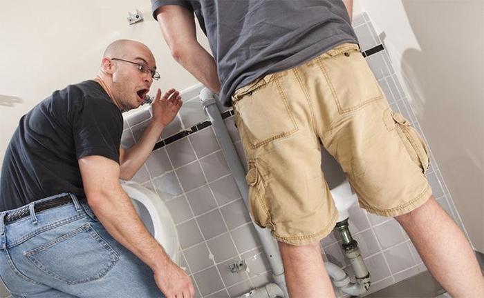Man In Awe Of Some Guy Peeing