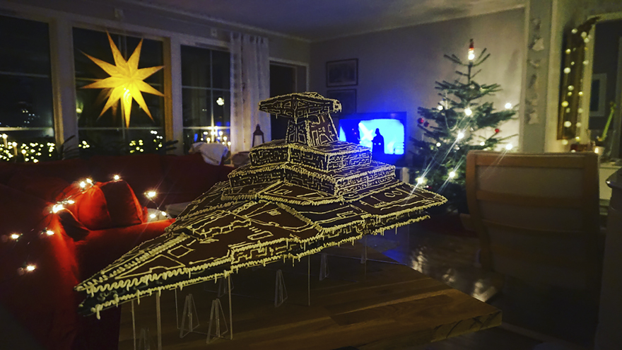 gingerbread imperial star destroyer star wars bakery 8 5a3cd03fb03db  880 - This Giant Gingerbread Imperial Star Destroyer Just Put All Gingerbreads To Shame
