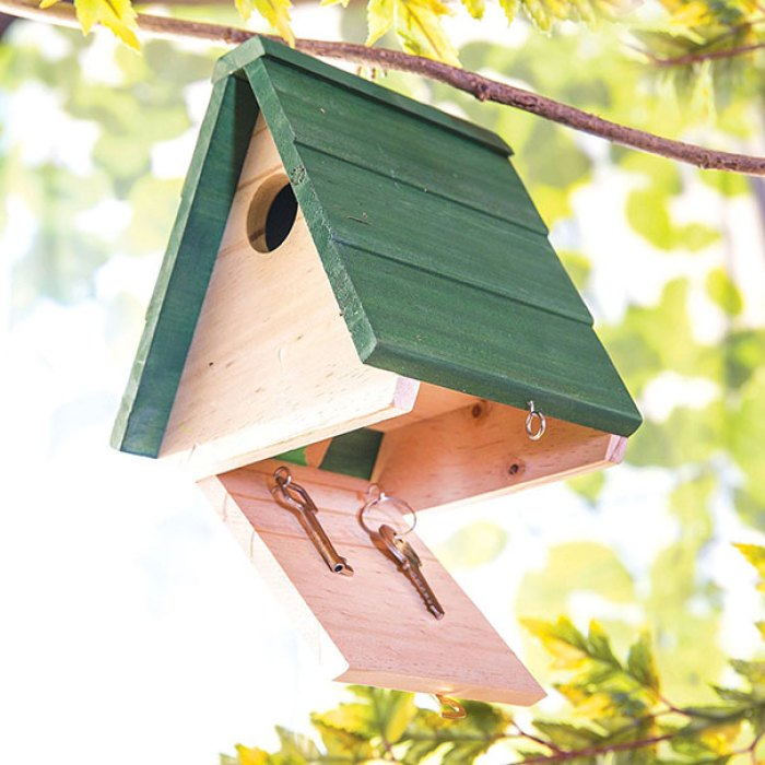 Birdhouse With A Hidden Box