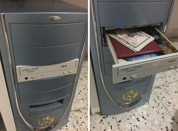 Compartimento secreto en el ordenador