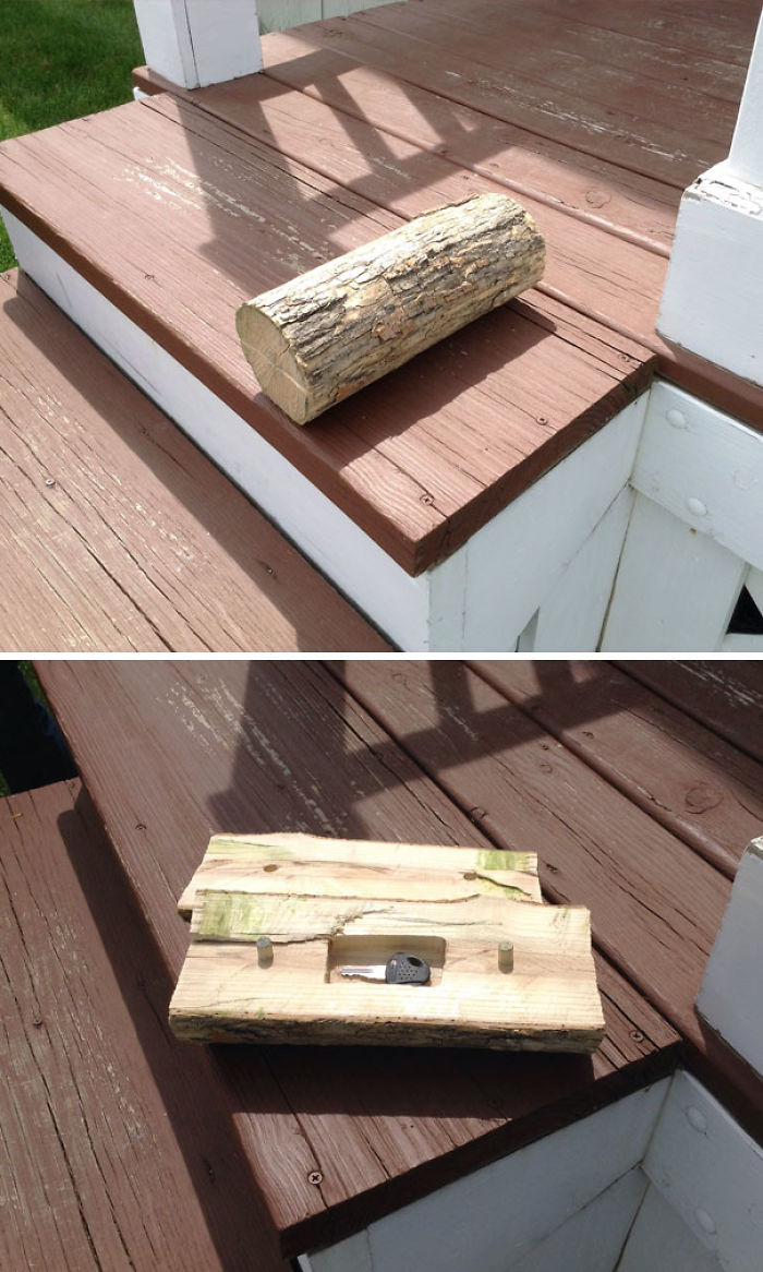 Esconder cosas en un tronco