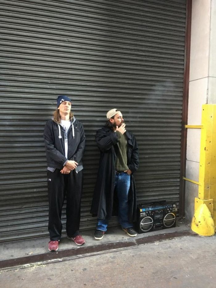 Amazing Jay And Silent Bob Cosplay I Saw At Work