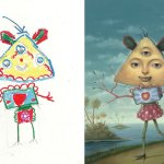 What Happens When Professional Artists Recreate Kids' Monster Doodles In Their Own Unique Style