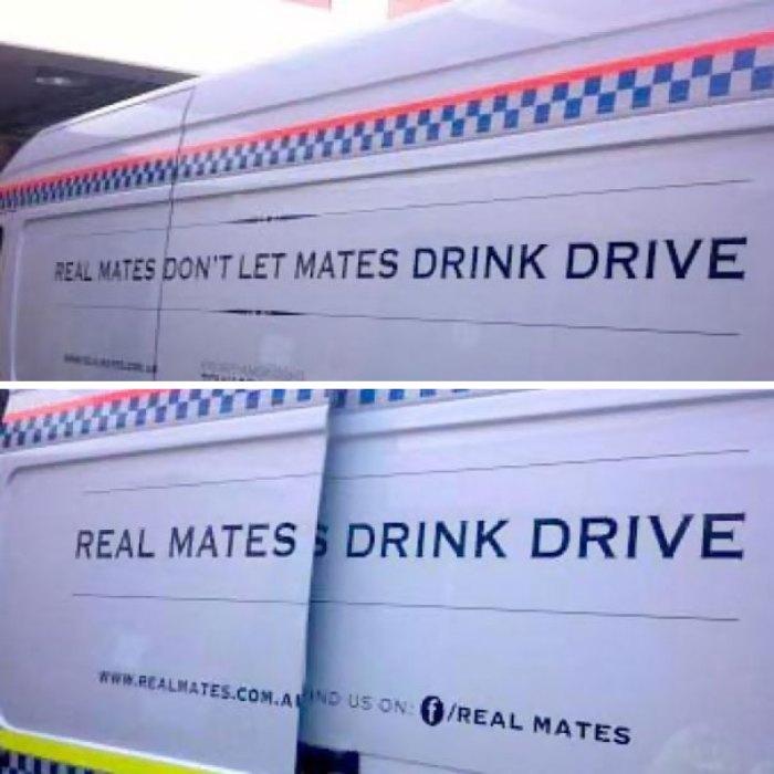 Signage Fail On Tasmanian Police RBT Van
