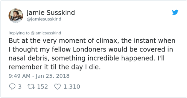 hero-commuter-sneeze-jamiesusskind-jamie-susskind-%E2%80%8F-14 Commuter Finds A New Hero On London Underground, And His Bravery Will Make You Die Of Laughter Design Random
