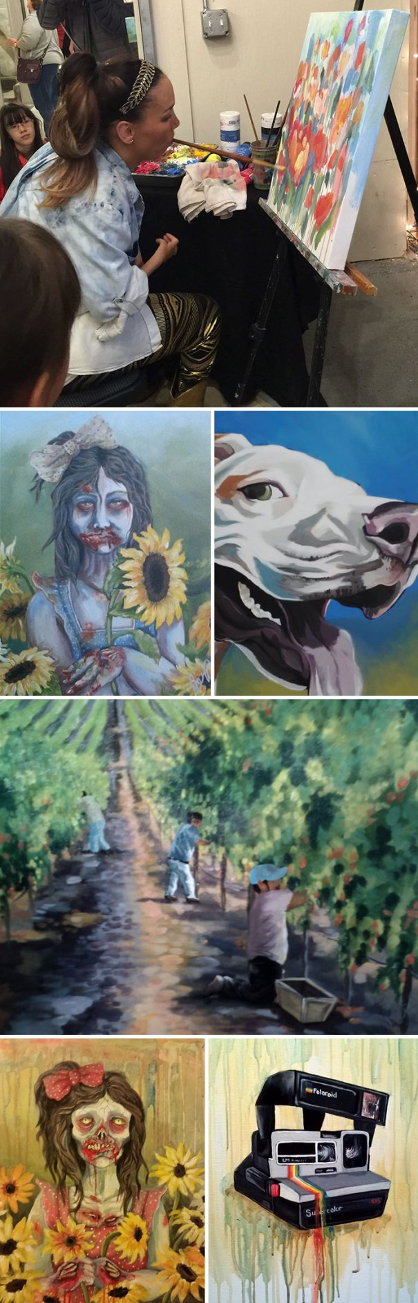 My Sister Alana Was Born Without The Use Of Her Hands. She Paints Using Her Mouth And Feet. I Wanted To Share Some Of Her Artwork